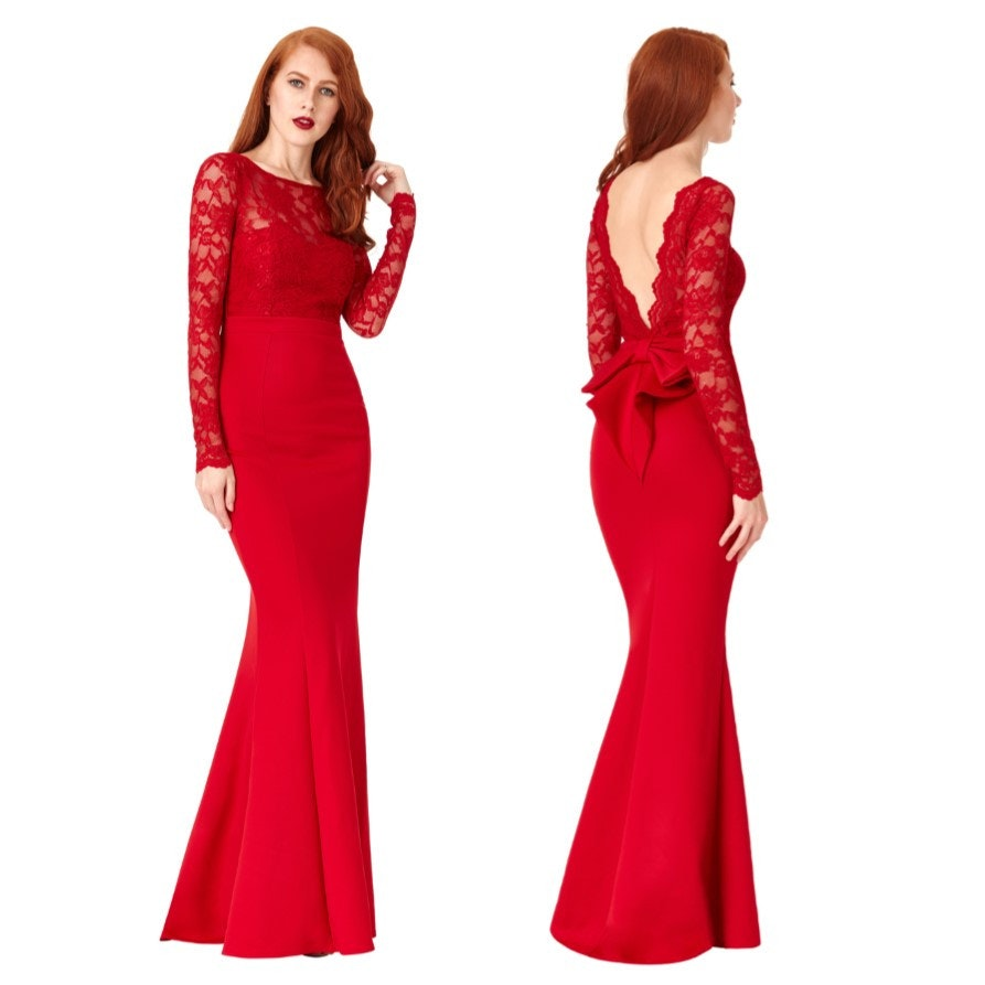 Gala jurken rood lang