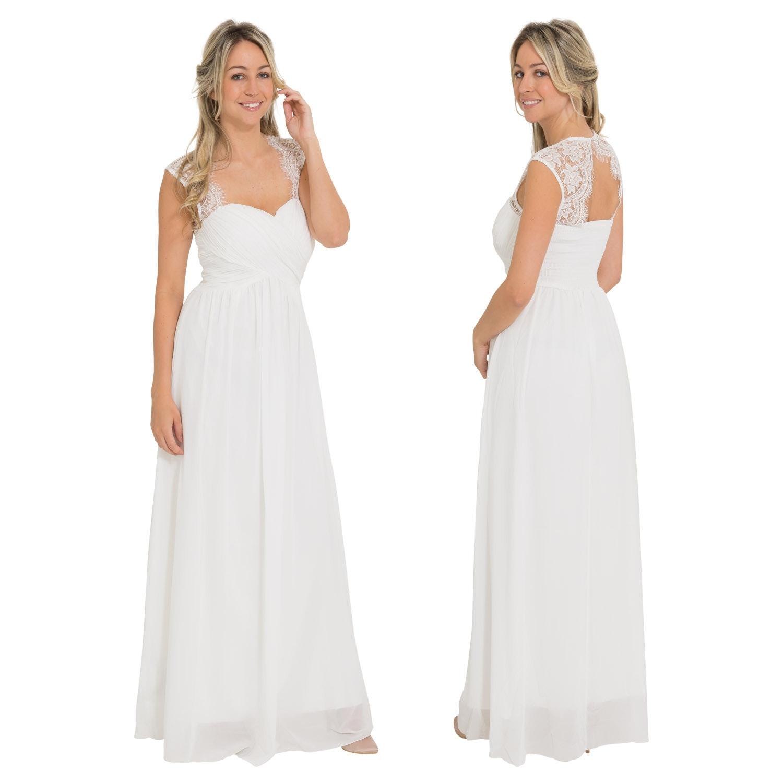 Witte gala jurk lang