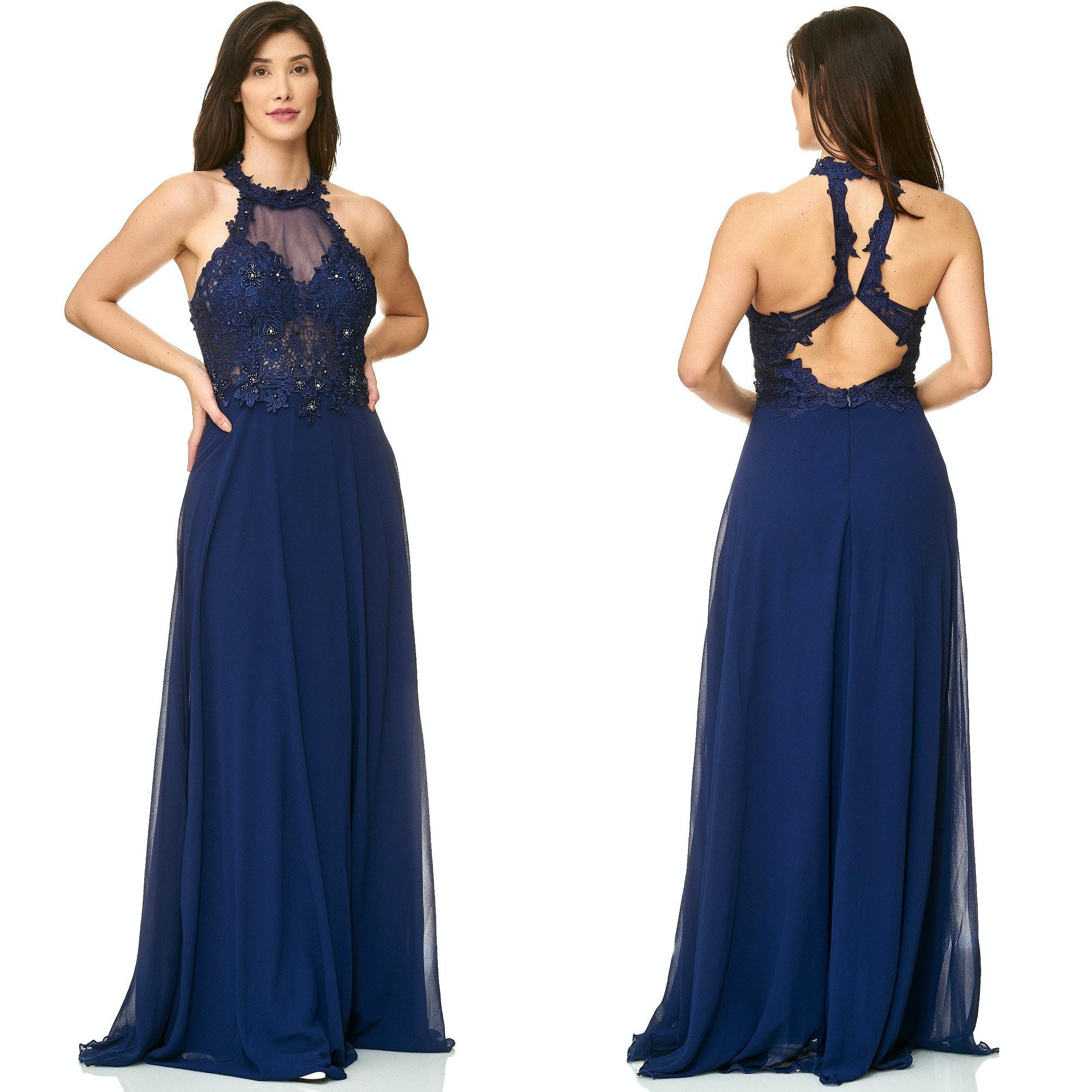 jurk lang blauw